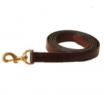 "Tory Leather - 1"" X 7' Single Ply Lead with Brass Plated Snap"