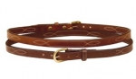 "Tory Leather 3/4"" Belt with Triple Stitched Pattern"