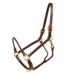 "Tory Leather 3/4"" Halter with Rolled Nose and Throat"