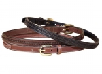 "Tory Leather 3/4"" Leather Belt with Center Braid"