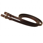 "Tory Leather 3/4"" Partial Double and Stitched Rein with Buckle Bit Ends"