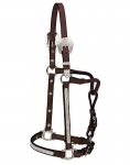 "Tory Leather 3/4"" Oklahoma Show Halter w/Lead"