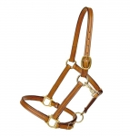 "Tory Leather 3/4"" Halter Single Crown Buckle and Throat Snap"