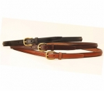 "Tory Leather 3/4"" Raised Belt with Blank for Name Plate"