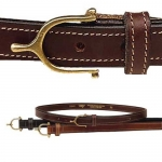 "Tory Leather 3/4"" Spur Buckle Leather Belt"