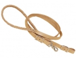 "Tory Leather - 3/4"" x 7' Five Plait Braided Harness Leather Roping Rein"