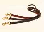 "Tory Leather 3/4"" x 6' Plain Leather Creased Dog Leash with Rolled Hand Hold"
