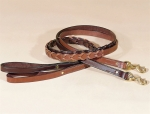 "Tory Leather 3/4"" x 5' Laced Leather Dog Leash"