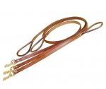 "Tory Leather 3/4"" x 4' Plain Creased Leather Dog Leash with Rolled Hand Hold"
