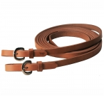 "Tory Leather - 3/4""x 7' Single Ply harness Leather Rein with Buckle End"
