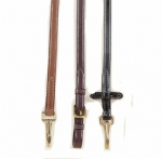 "Tory Leather 5/8"" Bridle Leather Rein with Solid Brass Snap Ends"