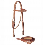 "Tory Leather 5/8"" Brow Band Filling Headstall and Reins Set"