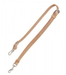 "Tory Leather 5/8"" Harness Leather Tie Down with Nickel Hardware"