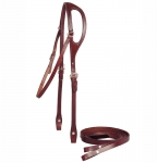 "Tory Leather 5/8"" Shaped Ear Headstall and Reins"