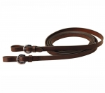 "Tory Leather 5/8"" Single Ply Bridle Leather Rein with Buckle End"