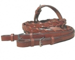 "Tory Leather 5/8"" x 54"" Laced Rein with Buckle Bit Ends"