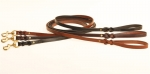 "Tory Leather 5/8"" x 6' Split Twist Dog Leash"