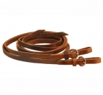 "Tory Leather 5/8"" x 7' Single Ply Harness Leather Rein with Buckle End"