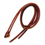 Tory Leather 7' Partial Rolled Rein With Chicago Screw Bit End