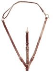 Tory Leather Adjustable Training Martingale with Neck Strap