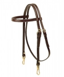 Tory Leather Arabian Brow Band Headstall with Snap End