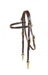 Tory Leather Arabian Side Check Headstall with Snap Ends