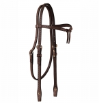 Tory Leather Basket Weave Brow Knot Headstall