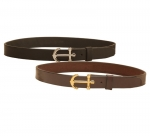"Tory Leather Bridle Leather 1 1/4"" Strap Belt with Anchor Buckle"