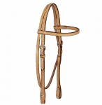 Tory Leather Brow Band Headstall with Buckles w/Chicago Screws