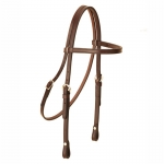 Tory Leather Brow Band Headstall with Sewn Buckles