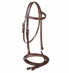 Tory Leather Brow Band Pony Headstall & Matching Reins Set