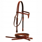 Tory Leather Brow Knot Headstall & Reins Set