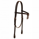 Tory Leather Brow Knot Headstall with Buckles and Chicago Screws