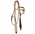 Tory Leather Buckaroo Paddle Cheek Silver Brow Knot Headstall