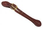 Tory Leather Concho Western Spur Strap with Brass Buckle