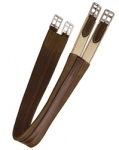 Tory Leather Contour English Girth with Elastic at One End