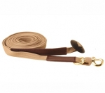 Tory Leather Cotton Web and Leather Lunge Line With Snap