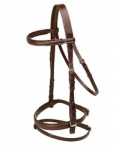Tory Leather Deluxe Dressage Padded Bridle with Buckle Ends