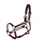 Tory Leather Fila Silver Show Halter w/Lead