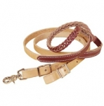 Tory Leather Five Plait Braided Harness Leather and Latigo Roping Rein
