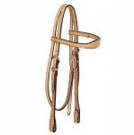 Tory Leather Flared Brow Headstall with Buckles and Chicago Screws