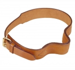 Tory Leather French Style Cribbing Strap with Plate