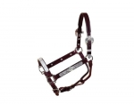 Tory Leather Galveston Silver Show Halter w/Lead