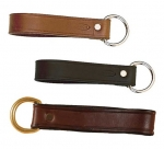 Tory Leather Girth Loop with Nickel Dee