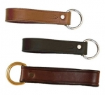 Tory Leather Girth Loop with Brass Dee