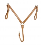 "Tory Leather - Harness Leather 1-1/4"" Breast Strap with Center Stainless Dee"