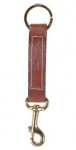 Tory Leather Key Fob with Brass Bolt Snap
