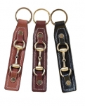 Tory Leather Large Snaffle Bit Key Fob