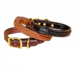Tory Leather Leather Dog Collar with Center Braid