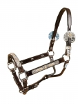 Tory Leather Maybach Style Silver Halter with Lead